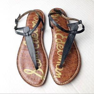 Sam Edelman Gigi Thong Flat Sandals Black 9.5